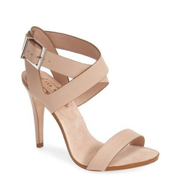 1d51b3268f1 Ted Baker London Nude Leather Strappy Heels. M 5c033aa81b329446ef4b3d1c